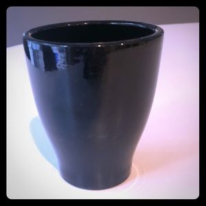 Other - Tiny pot planter, black, used, fair condition